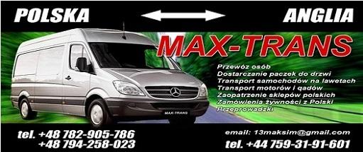 MAX-TRANS  Przeprowadzki do Anglii