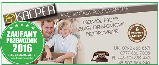 przewóz paczek z Polski kacperkurier