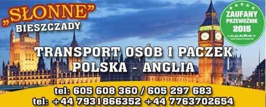 Logo firmy Słonne busy anglia Sanok