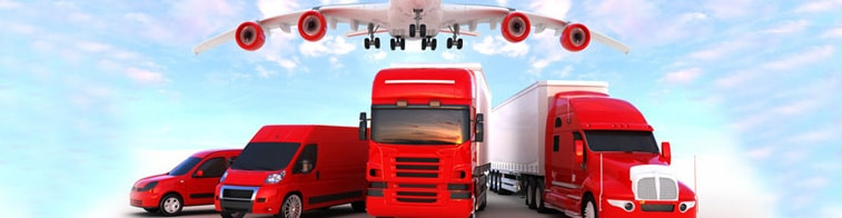 Ciężarówki transport oraz samochód kurierski