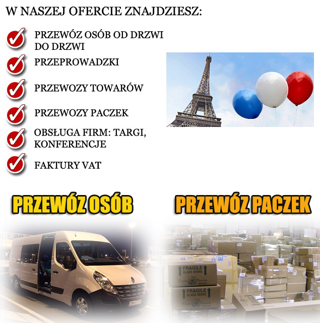 transport osob łomża francja