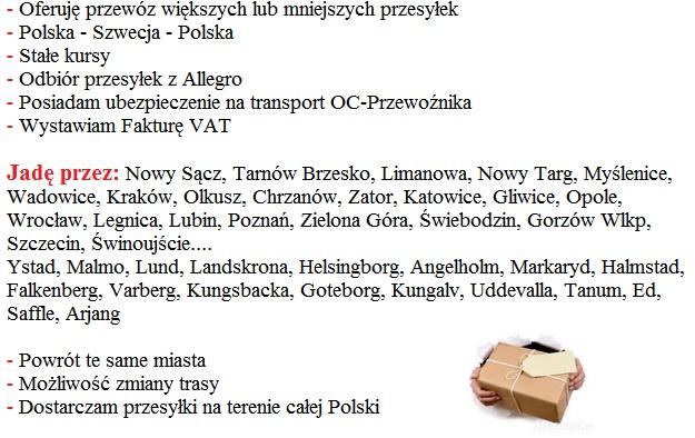 paczki norwegia polska tanio
