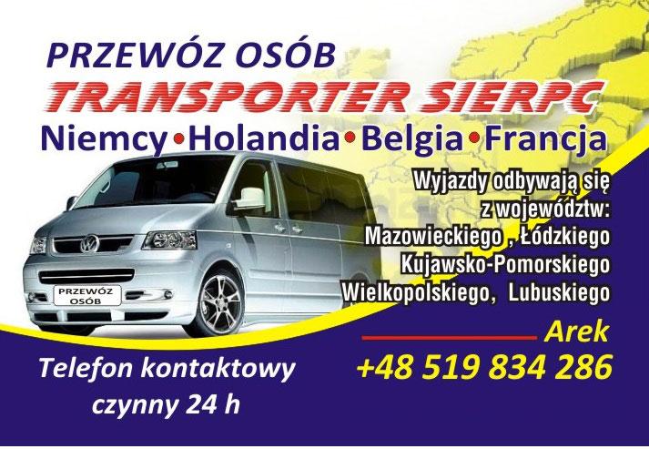 reklama transporter sierpc holandia