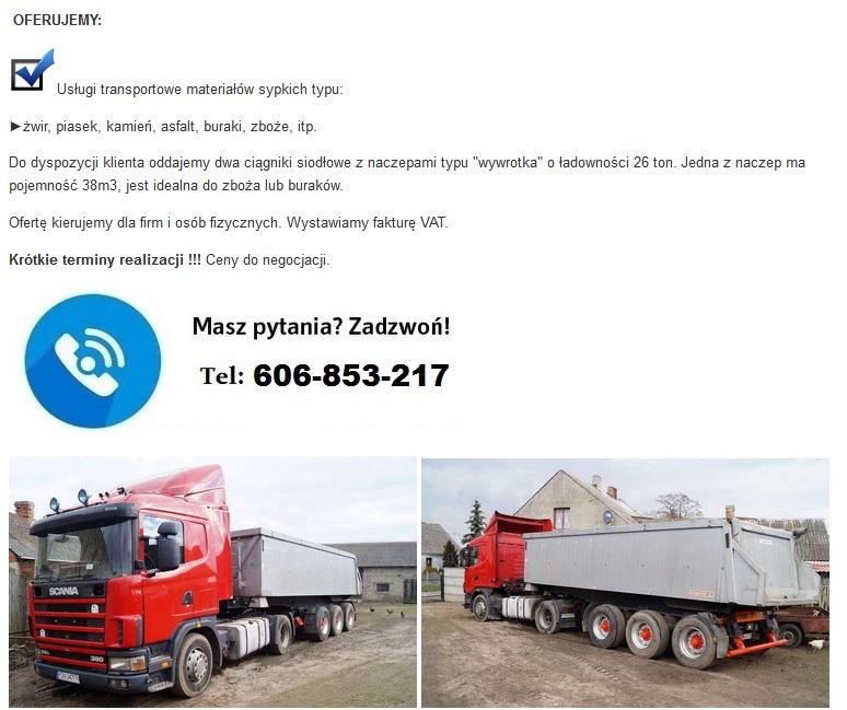 transport 24 tony gniezno materiały budowlane