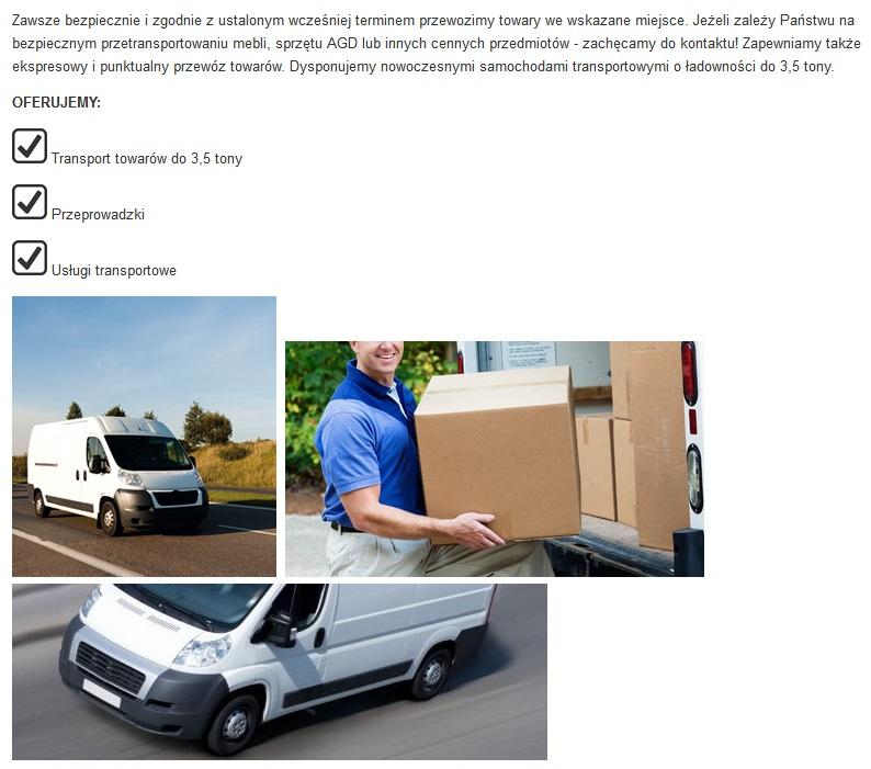transport 3,5 tony jastrzebia zdroj