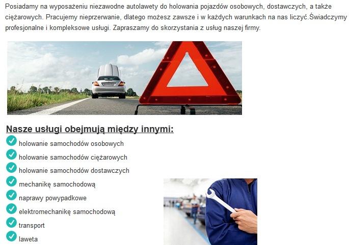 informacja o pomocy drogowej w pniewach tanio