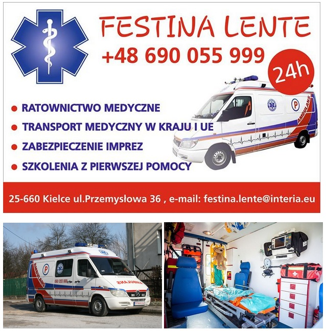 plakat transport medyczny kielce festina