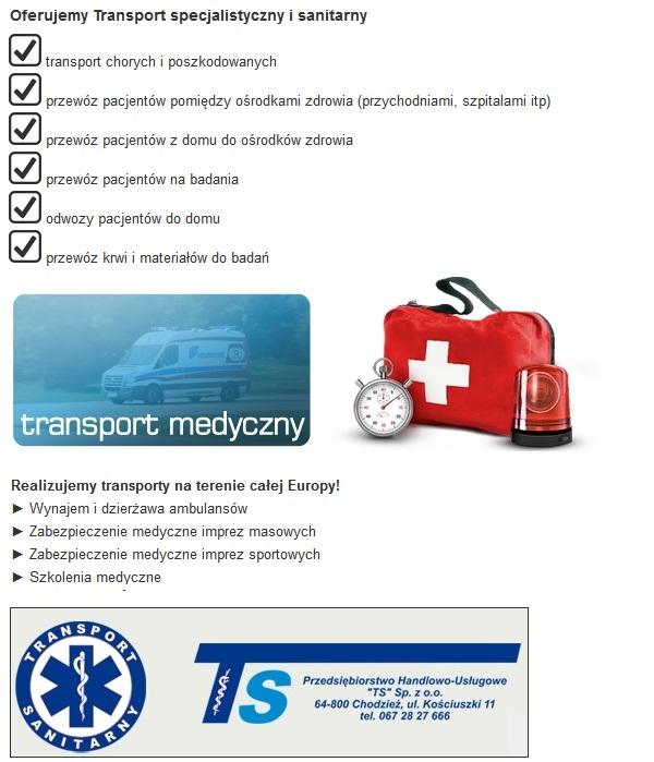 oferta transportu medycznego z piły