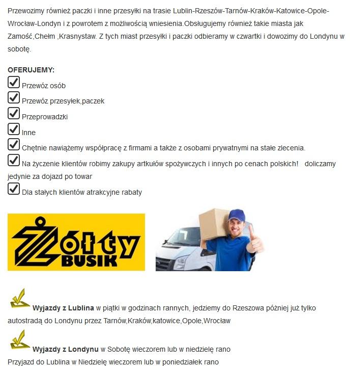 trasa żółty bus anglia