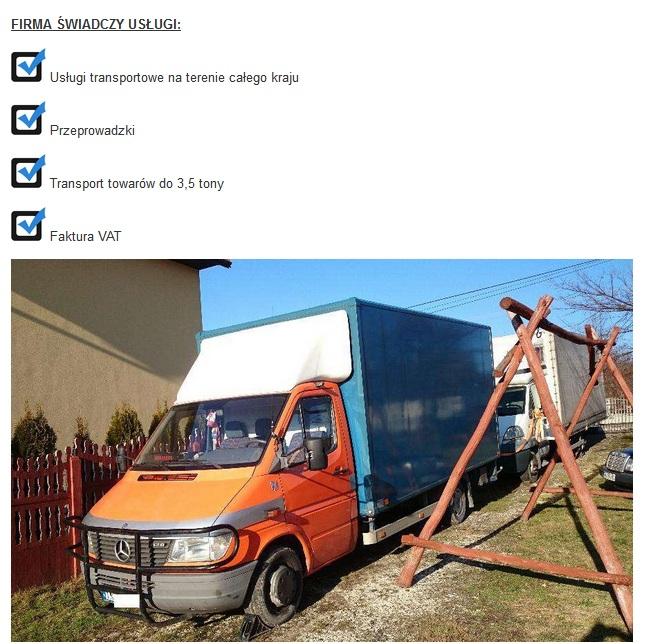 transport 3,5 tony końskie