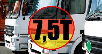 zakaz przejazdu pojazdow powyzej 7,5 tony przez niemcy w weekendy